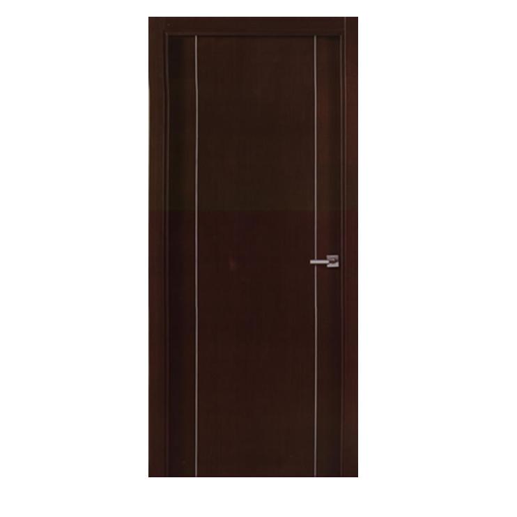 Puerta laqueada con perfiles de aluminio modelo agora for Modelos de puertas de madera para interiores